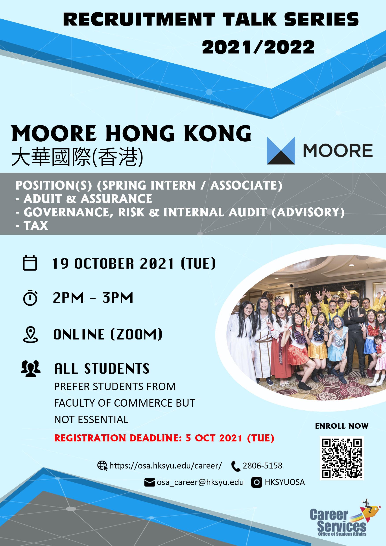 Recruitment Talk – Moore Hong Kong